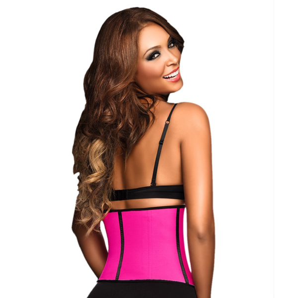d8adb9d4f0 ... 2015 Hot Women Latex Waist Training Cincher Underbust Corset Pink BK8001