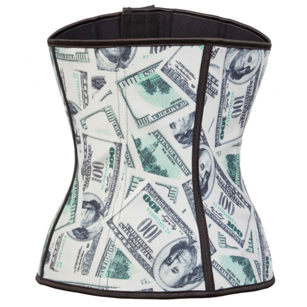 2015 New Dollar Latex Steel Boned Shaper Underbust Corset For Waist training And GYM BK8054