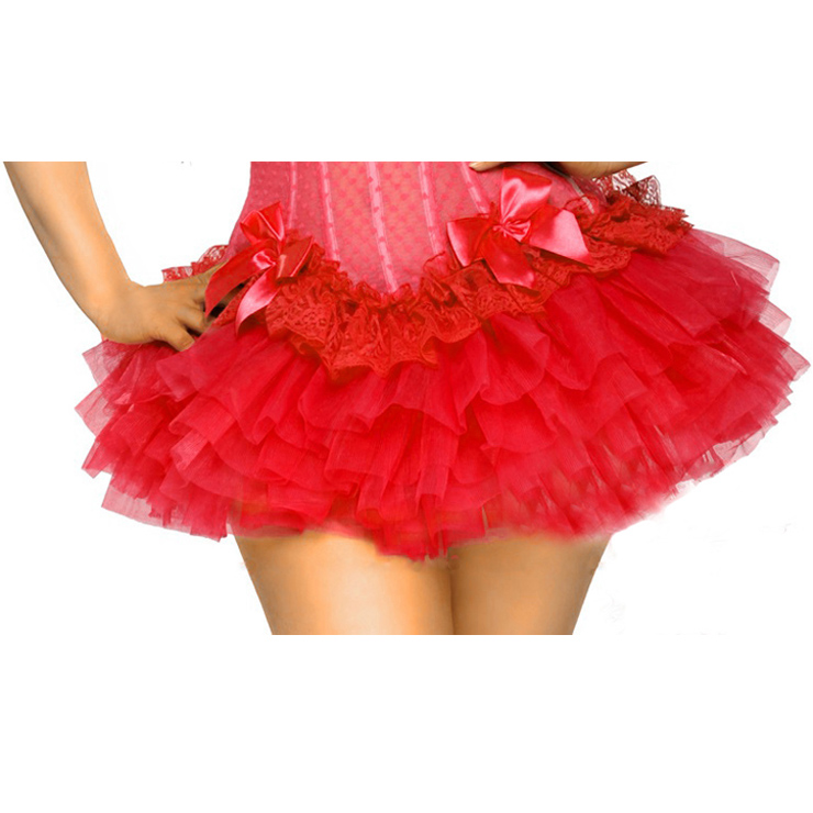 Red Puff Short Skirt BC1731