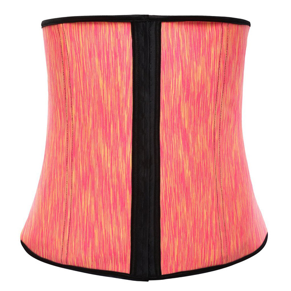 Womens Latex Waist Cincher Spiral Steel Boned Tummy Shapewear Girdle Orange BK9105