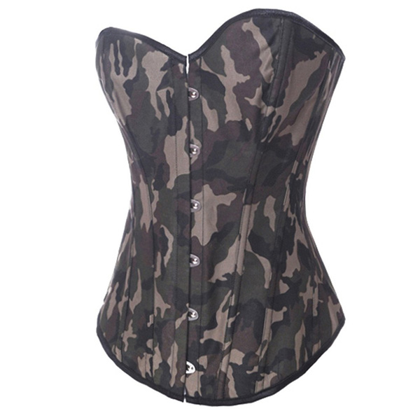 Camo Queen Burlesque Corset BC1957