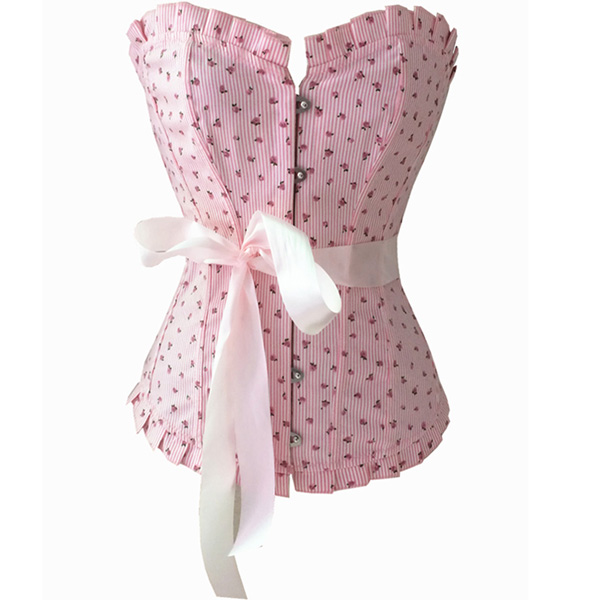 Charming Pink Little Flower Corset BC1154