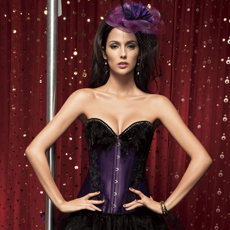 Corset with Feathers BC1361