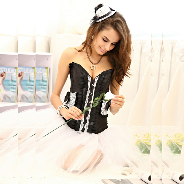 Pleated Lace Corset BC1306
