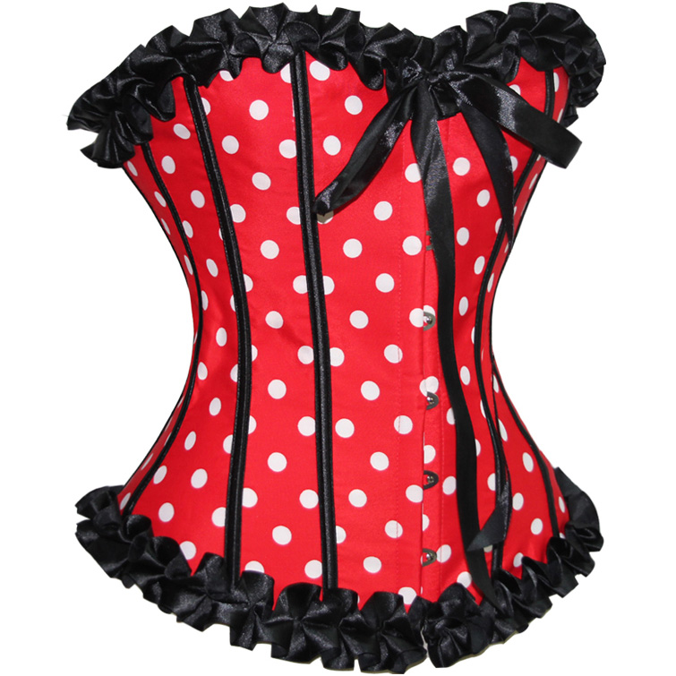 Red Polka Dot Corset BC1437