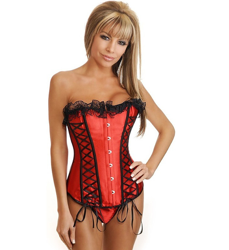 Red corset bustier BC1582