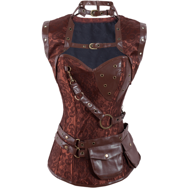 Steampunk High Neck Corset with Jacket BC1166