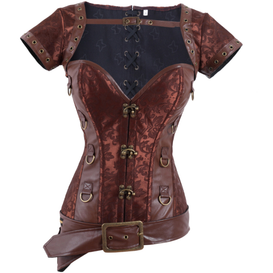 Steampunk Overbust Corset with Jacket & Blet BC1167