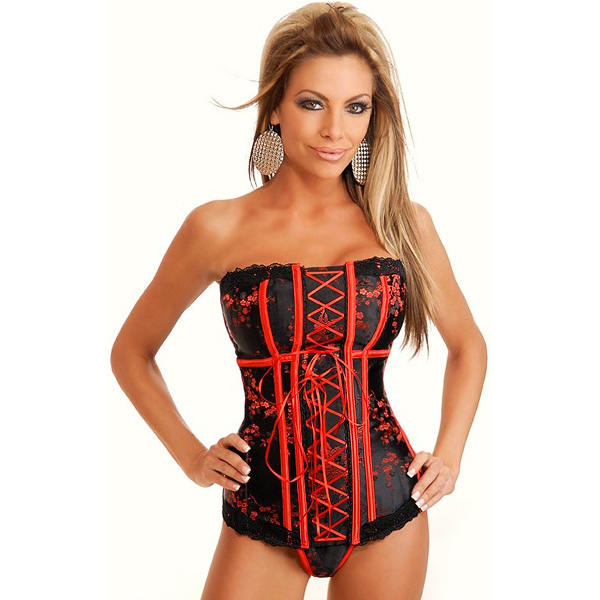 Strapless Asian Brocade Corset BC1594