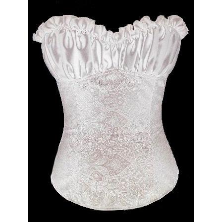 Wholesale White Paisley Design Corset BC1885,Corsets China ...