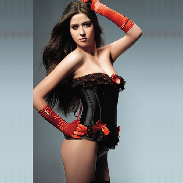 black and red lace up corset BC2037