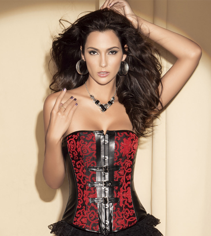buckle accents corset BC1351