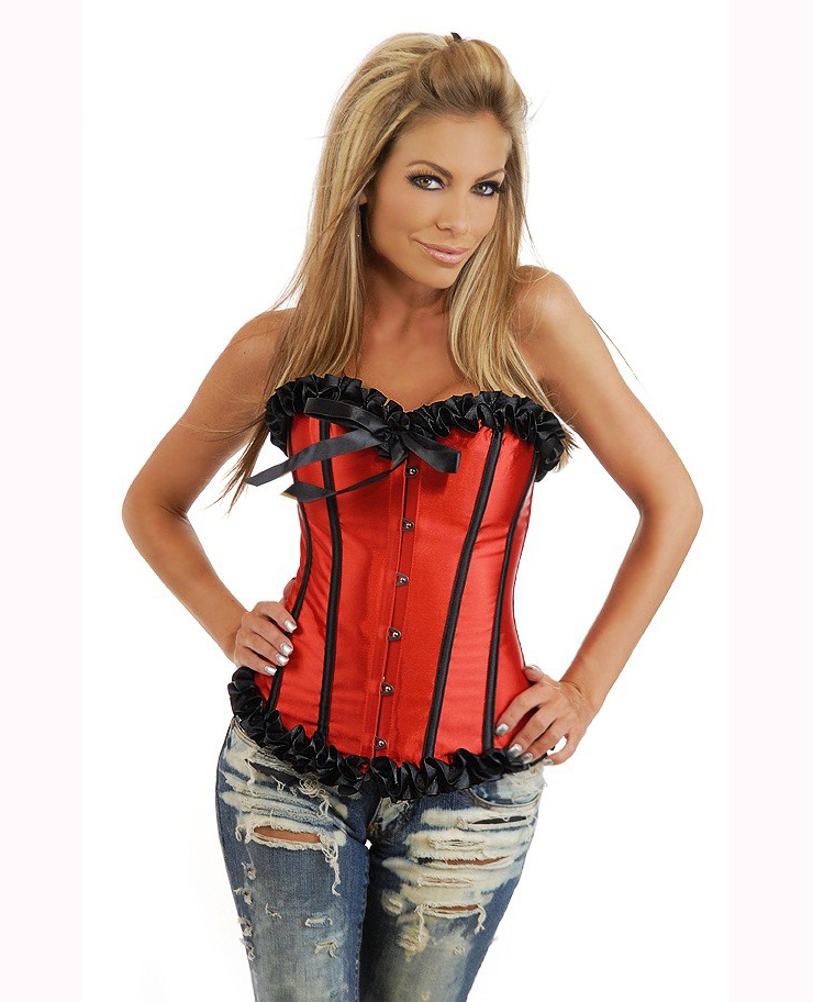 red corset bustier BC1559