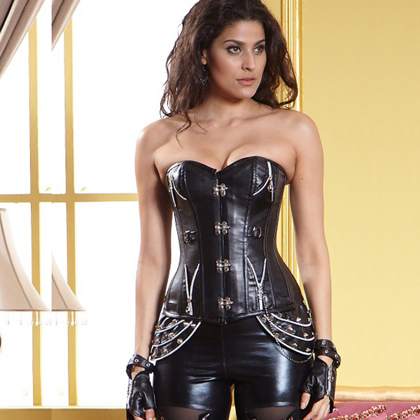 1PC Leather Steampunk Corset BC1869