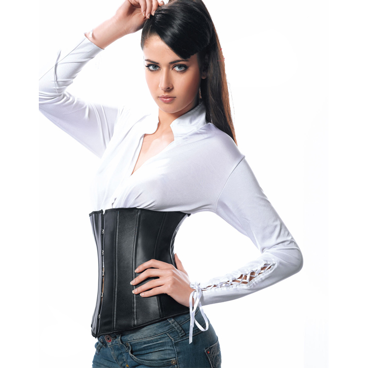 Leather underbust corset BC2053