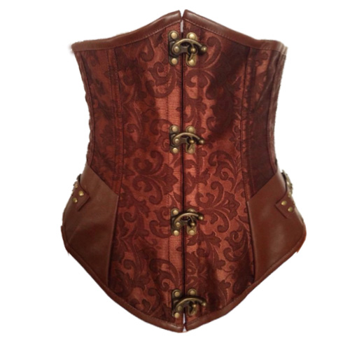 Brown Steel Boned Steampunk Underbust BC1795