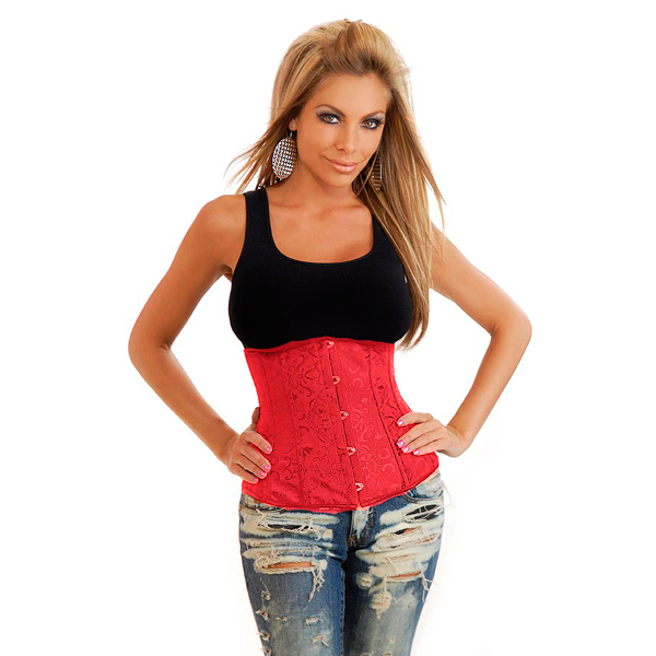 Red Floral Brocade Corset BC2057